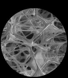 メラミンフォーム骨格構造図