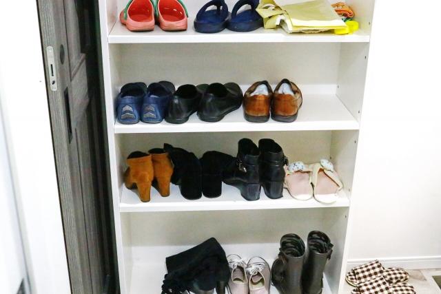 靴棚のお掃除方法